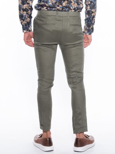 OVER-D Pants Chino linen OM539PN Olive