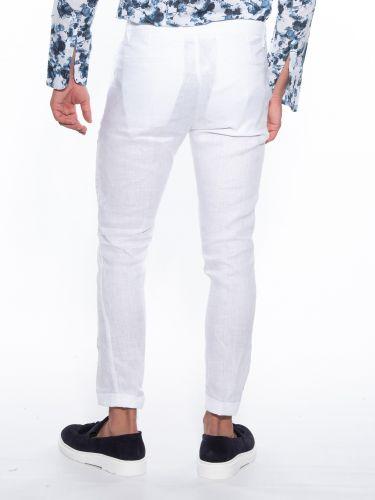 OVER-D Pants Chino linen OM539PN White
