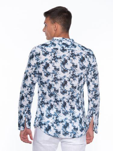 OVER-D Shirt OM835CM Printed - White - Blue