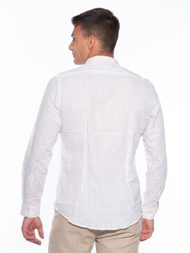 OVER-D Striped shirt OM640CM Beige - White