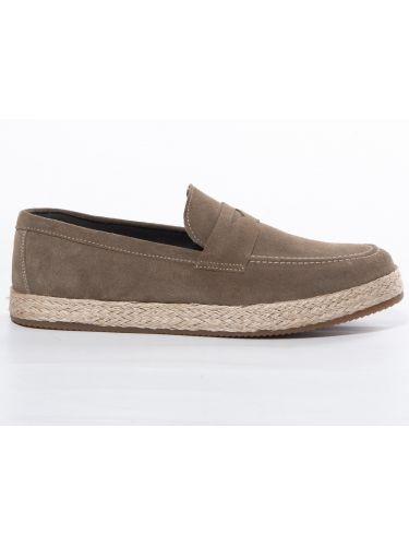 OVER-D Shoe SLIP-ON Suede OM629SC Gray - Oil