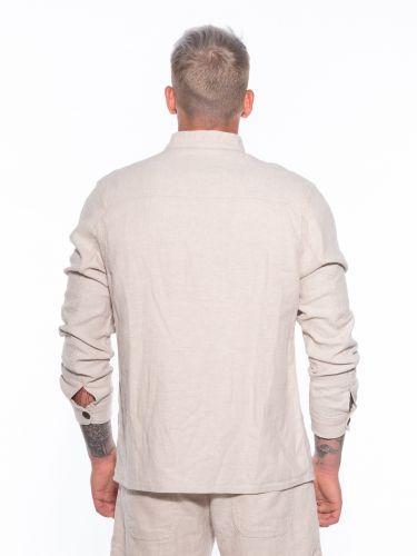GABBA Shirt - Jacket Goa Linen Layer P5300 Beige