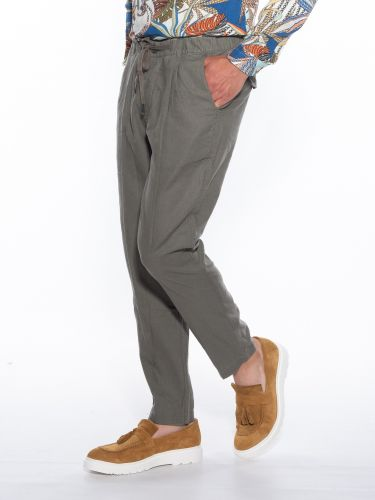 OVER-D Pants Chino linen...