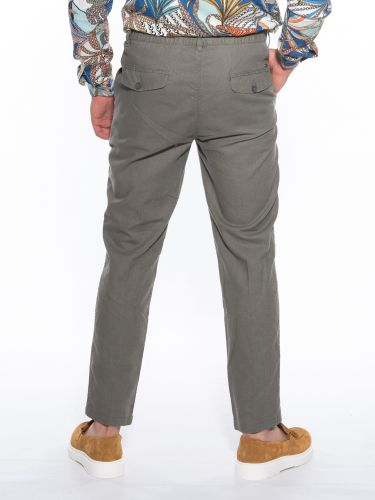OVER-D Pants Chino linen OM623PN Olive