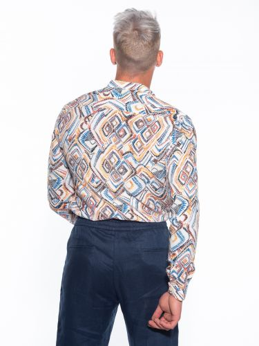 OVER-D Shirt OM713CM Printed - White
