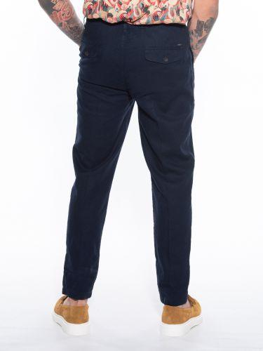 OVER-D Pants Chino linen OM623PN Blue
