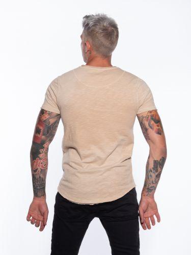 GABBA T-shirt  Konrad Slub Tee P5305 Μπεζ