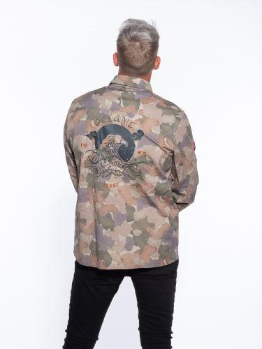 GABBA Shirt - Jacket Top Flow Camo P5225 Khaki - Beige