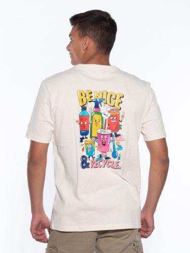 PUMA T-shirt 530899 75 Downtown Graphic Tee Εκρού