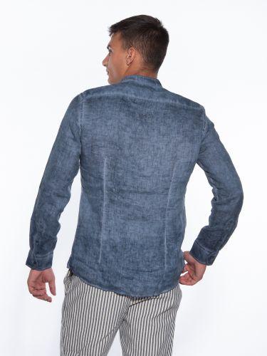 OVER-D Linen shirt OM352CM Blue