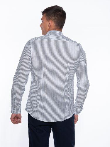 OVER-D Striped shirt OM640CM Light blue - White