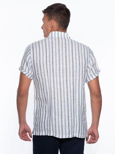 GIANNI LUPO πουκάμισο GL7522S off white-μπλε