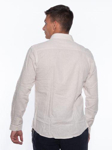 OVER-D Linen shirt OM353CM Beige