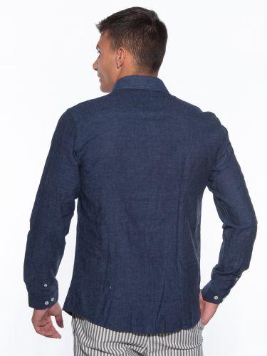 OVER-D Linen shirt OM353CM Blue