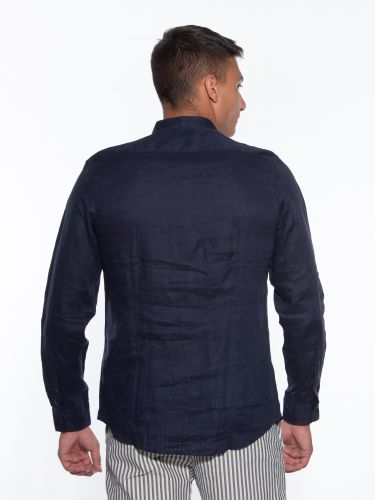 OVER-D Linen shirt OM349CM Blue