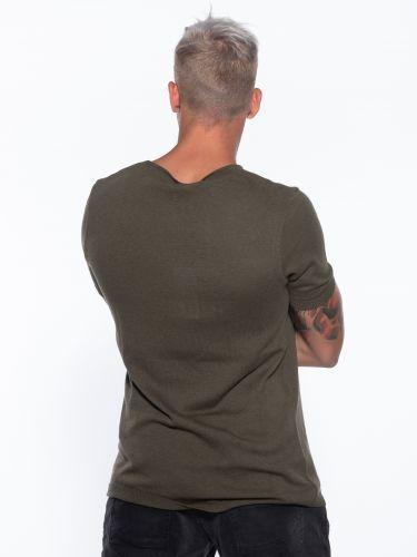 OVER-D T-shirt νημάτινο OM621MG Χακί