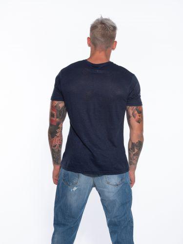 OVER-D T-shirt linen OM804TS Blue