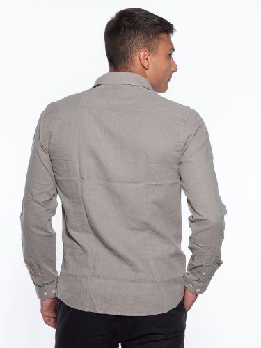 OVER-D Linen shirt OM353CM Olive