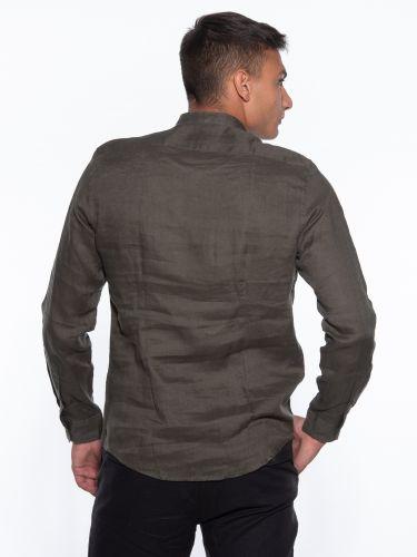 OVER-D Linen shirt OM349CM Olive