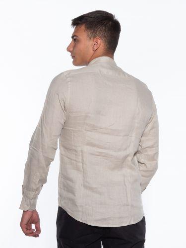 OVER-D Linen shirt OM349CM Beige