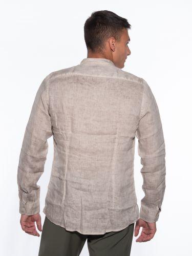 OVER-D Linen shirt OM352CM Beige
