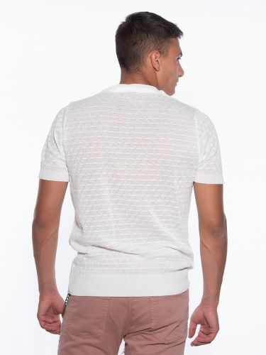 OVER-D T-shirt νημάτινο OM779MG Εκρού