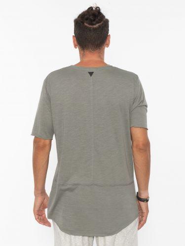 19 ATHENS T-shirt K21-1077 Λαδί - Γκρι
