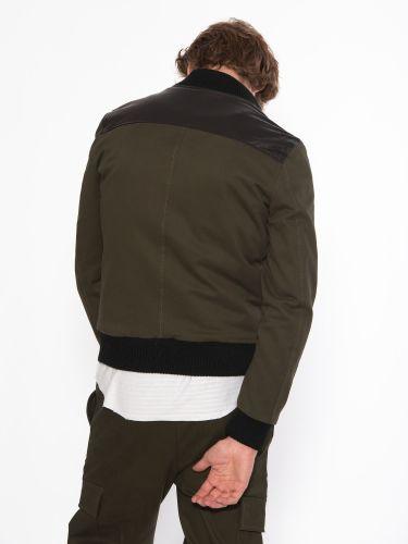 XAGON MAN Leather - bomber jacket 2GLARBU Khaki