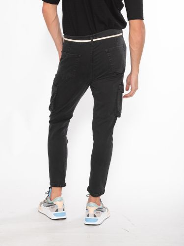 OVER-D trousers cargo OM472PN black