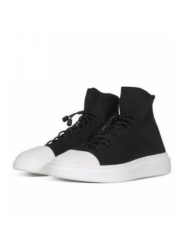 FESSURA Sneaker μποτάκι Edge Star Μαύρο - Λευκό