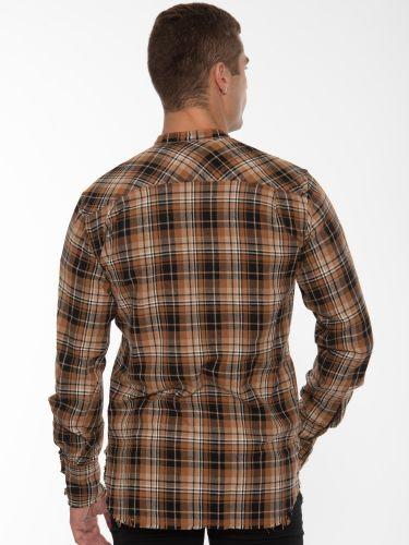 XAGON MAN Shirt mao 1P00001 Brown - Black - Beige