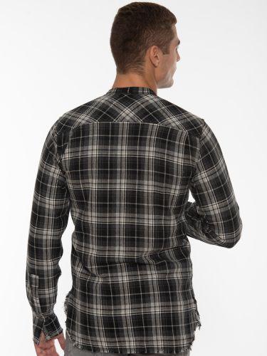 XAGON MAN Shirt mao 1P00001 Gray - Black - White