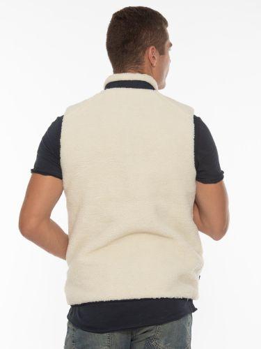 GABBA Sleeveless Jacket Battle Vest P5543 Off-white - Blue