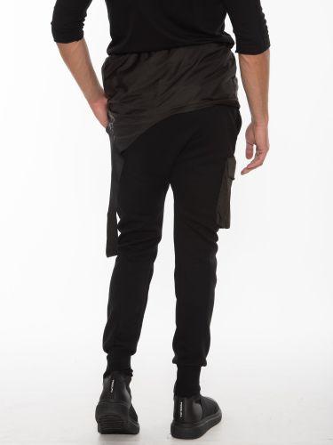 LA HAINE Cargo Παντελόνι - Φόρμα Σαλοπέτα 3M PAROLA Μαύρο