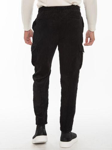 OVER-D Cargo Corduroy pants OM856PN Black