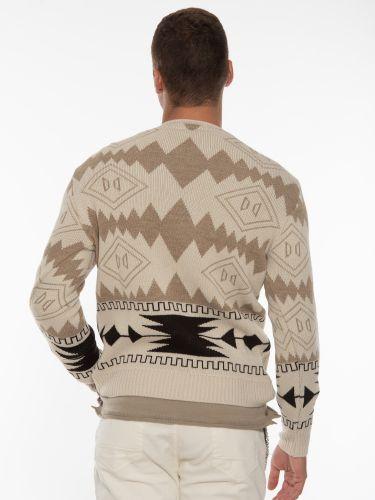 OVER-D Knitted blouse OT1F2W1M21 Ecru - Beige