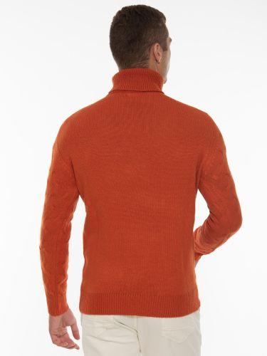 OVER-D Μπλούζα πλεκτή ζιβάγκο OM930MG Πορτοκαλί