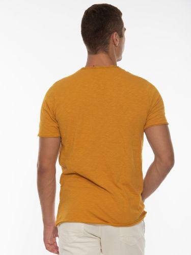 OVER-D T-shirt OT1F2W1T06 Μουσταρδί