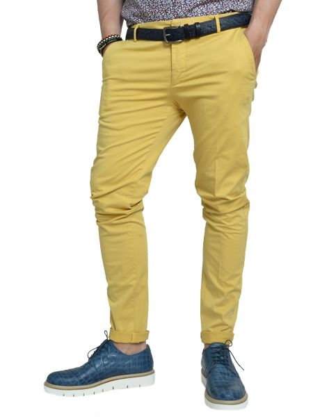 OVER-D chino pants GL-421 yellow