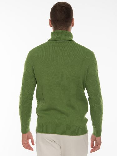 OVER-D Knitted blouse OM930MG Green
