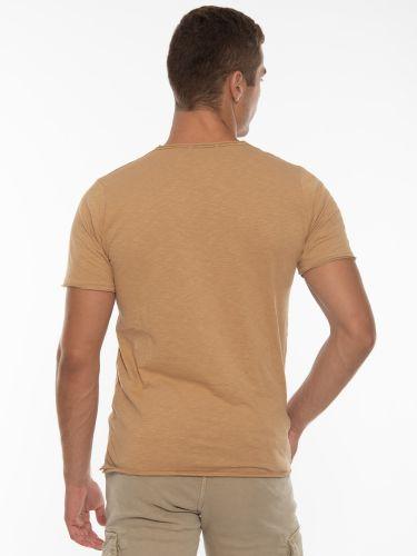 OVER-D T-shirt OT1F2W1T06 Μπεζ