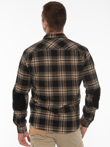 OVER-D Shirt - Plaid cardigan OT1F2W1C20 Black - Beige - Gray