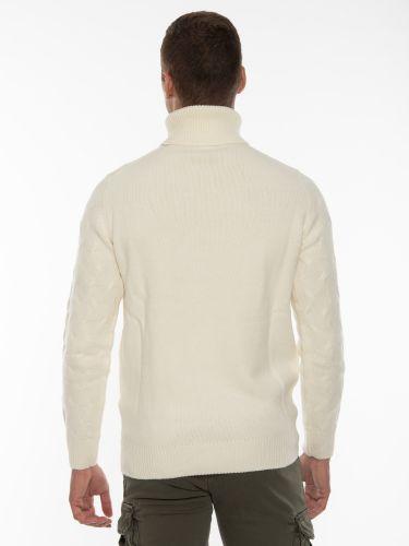 OVER-D Μπλούζα πλεκτή ζιβάγκο OM930MG Off-white