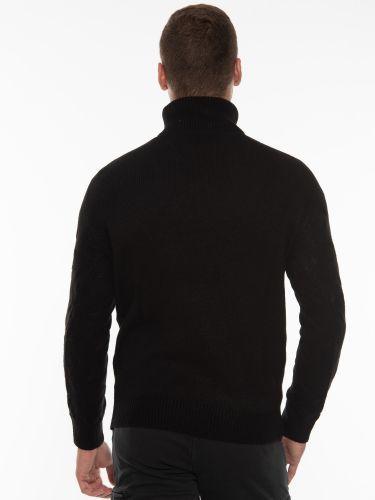 OVER-D Μπλούζα πλεκτή ζιβάγκο OM930MG Μαύρο