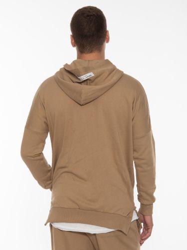 19 ATHENS Cardigan - sweatshirt with hood X21-1062 Beige