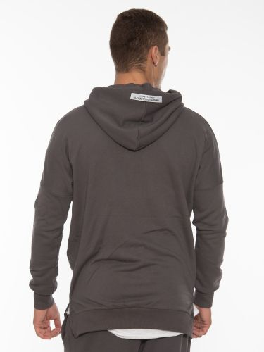 19 ATHENS Cardigan - sweatshirt with hood X21-1062 Gray