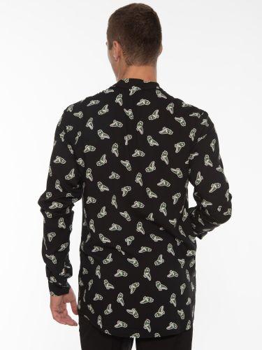 19 ATHENS Shirt X21-1022 Printed - Black