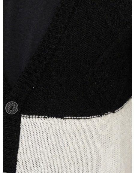YES LONDON knit cardigan XML3454 black-black