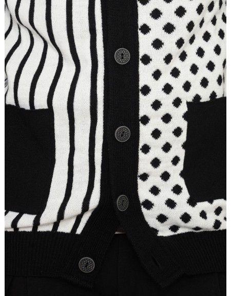 YES LONDON knit cardigan XML3457 black-black