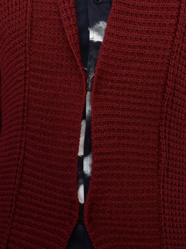 PROJECT knit cardigan H5KN112WO burgundy red